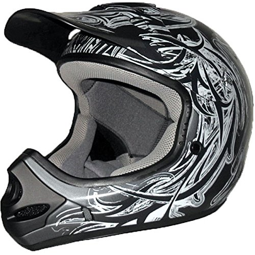 Adult's Raider MX-3 Black/ Silver Thermosplastic Helmet 2xlarge by Raider