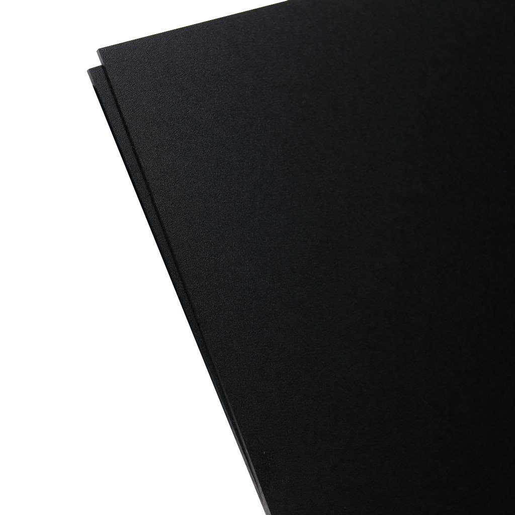 KYDEX Sheet 2 PACK 12 x 12 V Plastics 2000 Black 0.093 Thick 12 x 12