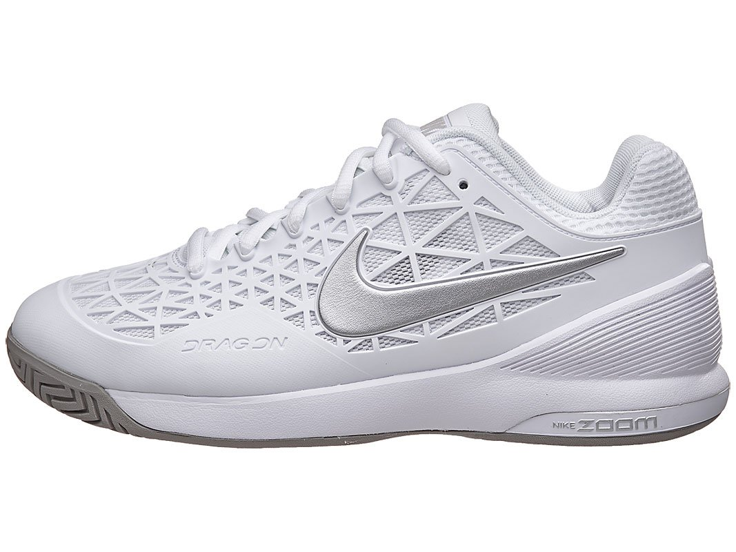 Zapatillas de tenis NIKE NikeCourt Zoom Cage 2 para mujer Plata blanca e8a9cad0293
