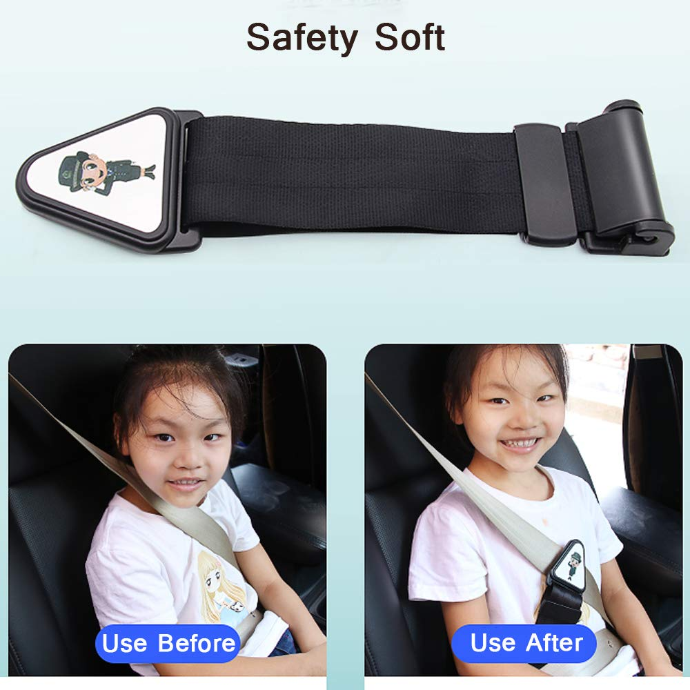 Child Car Seat Belt Height Adjuster Safety Clip For Comfort Childrens or Adults