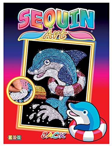 Sequin Art Red, Dolphin, Sparkling Arts and Crafts Picture Kit, Creative Crafts