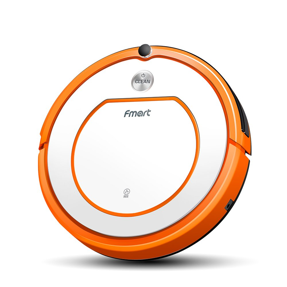 Fmart Smart Robotic Vacuum Cleaner, Automatic Self-Charge and Tangle-free Powerful Suction Robot Vacuum Cleaner with HEPA Filter Wet and Dry Robot Mop Cleaner for Floor, Thin Carpet YZ-Q2