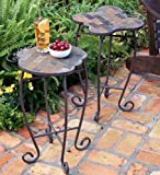 Slate Ladybug Outdoor Accent Tables With Iron Base</Span, In Ladybug