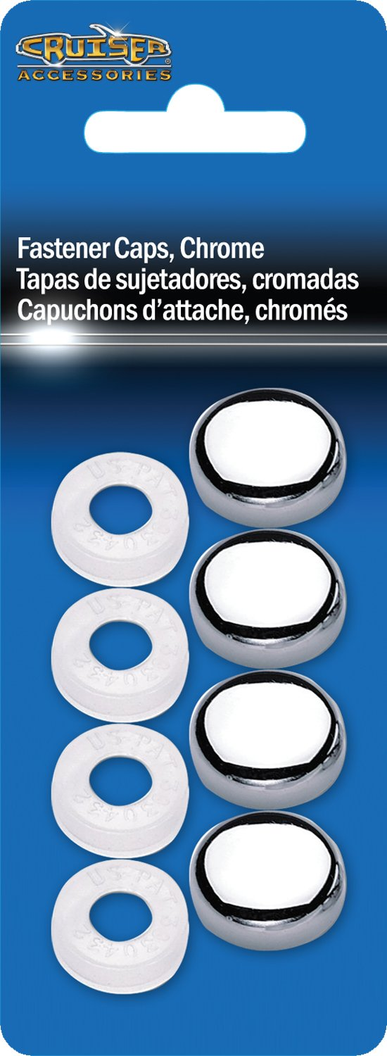 Cruiser Accessories 82630 License Plate Frame Fastener Caps, Chrome by Cruiser Accessories (Image #2)