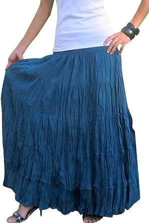 Billys Thai Shop Falda larga para mujer Boho Gypsy Faldas hechas ...