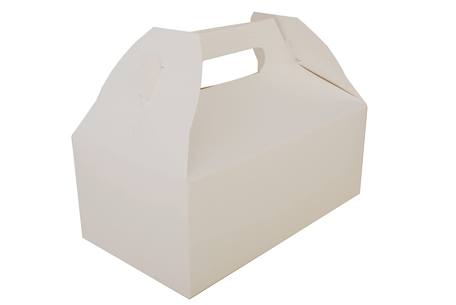 Southern Champion Tray 2701 Paperboard White Small Barn Style Carry Out Box, 5-lb Capacity, 8-7/8
