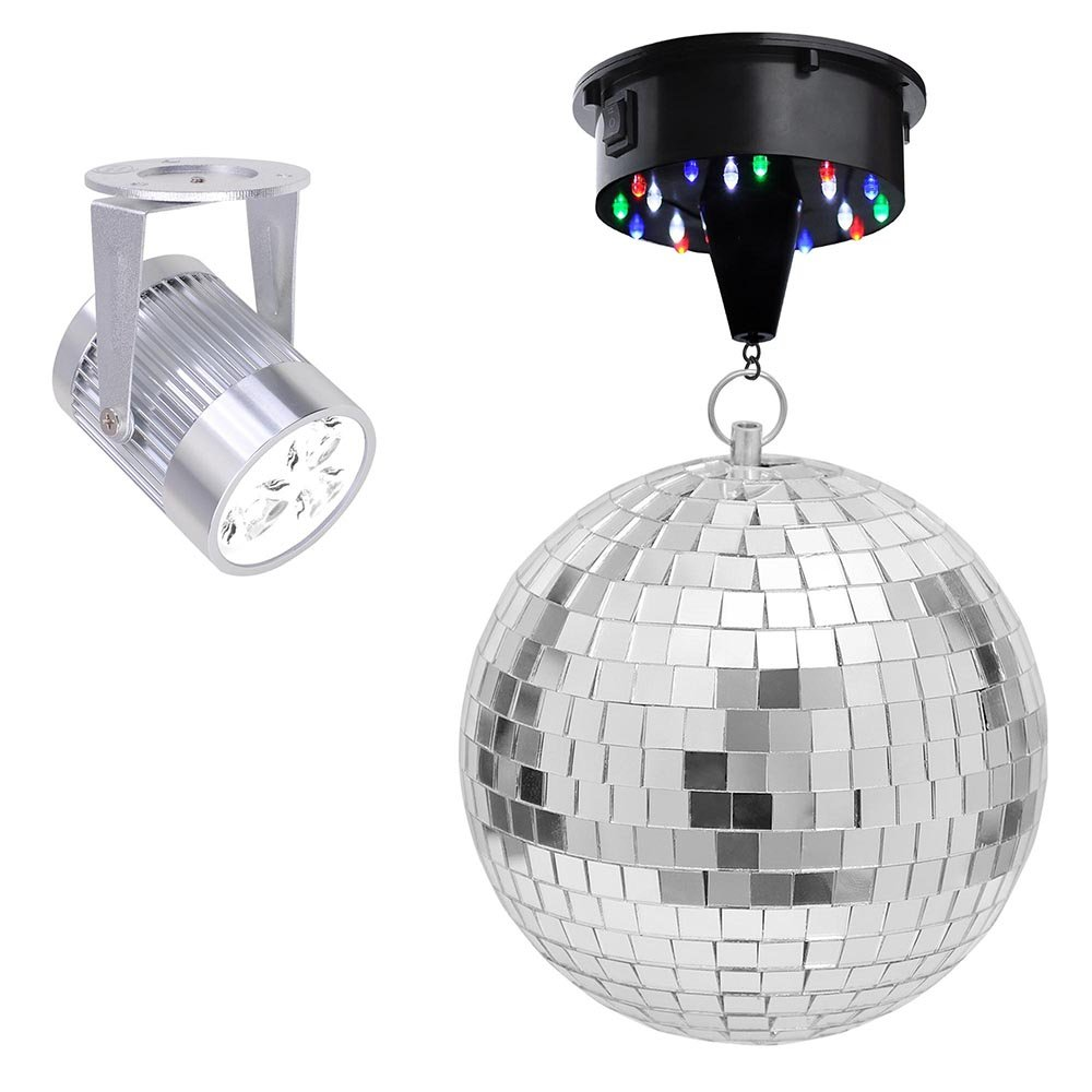 6''/12'' Mirror Disco Ball Complete Kit White