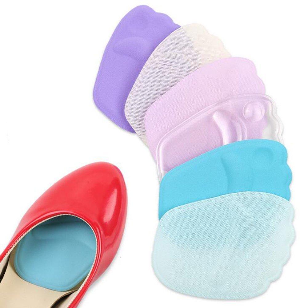 3 Paar Schaumstoff Ball von Fuß 3D-Kissen-Pads Vorfuß Mittelfuß Schmerzlinderung wiederverwendbar übertragbar & Sie Schritte lindern Vorfuß pain- perfekt für High Heels (zufällige Farbe) erioctry