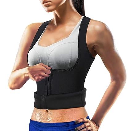 033a94dfb9e45 Wonderience Women Neoprene Sauna Suit Waist Trainer Vest for Weightloss Hot  Thermal Corset Body Shaper Zipper