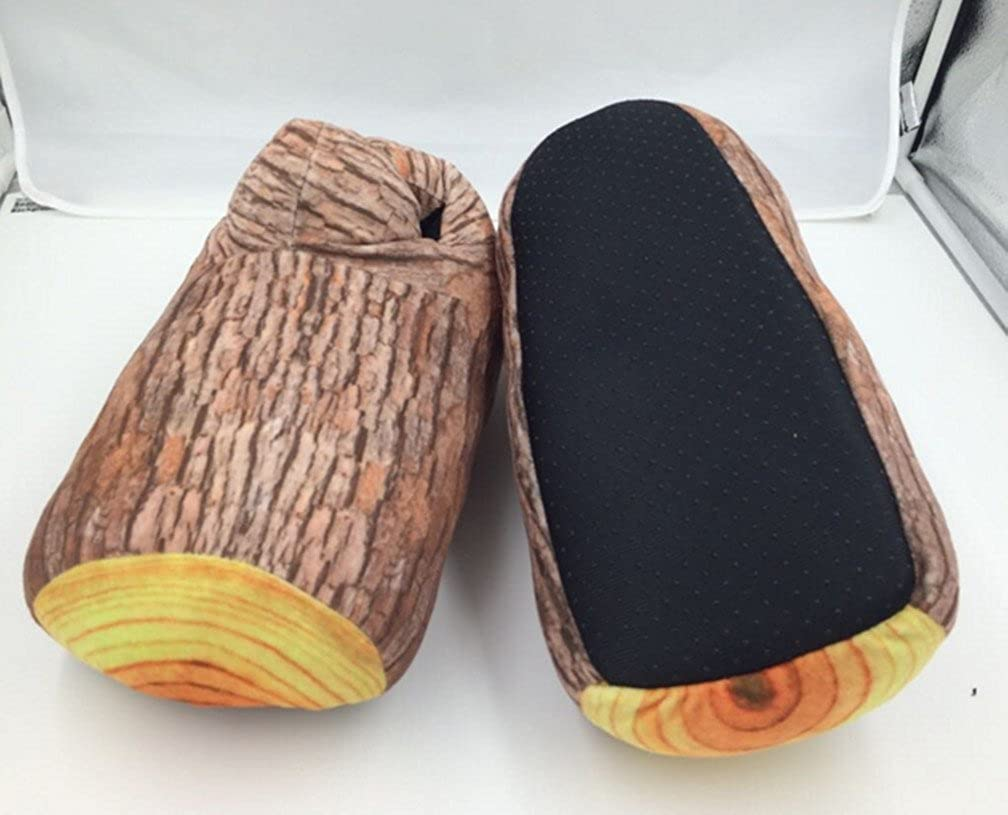 Skyseen Creative Stump Shape Adventure Slippers Bigfoot Cotton Slippers Floor Carpet Slippers