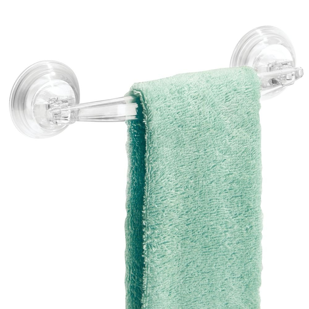 Amazon.com: InterDesign InterDesign Power Lock Suction Towel Bar ...