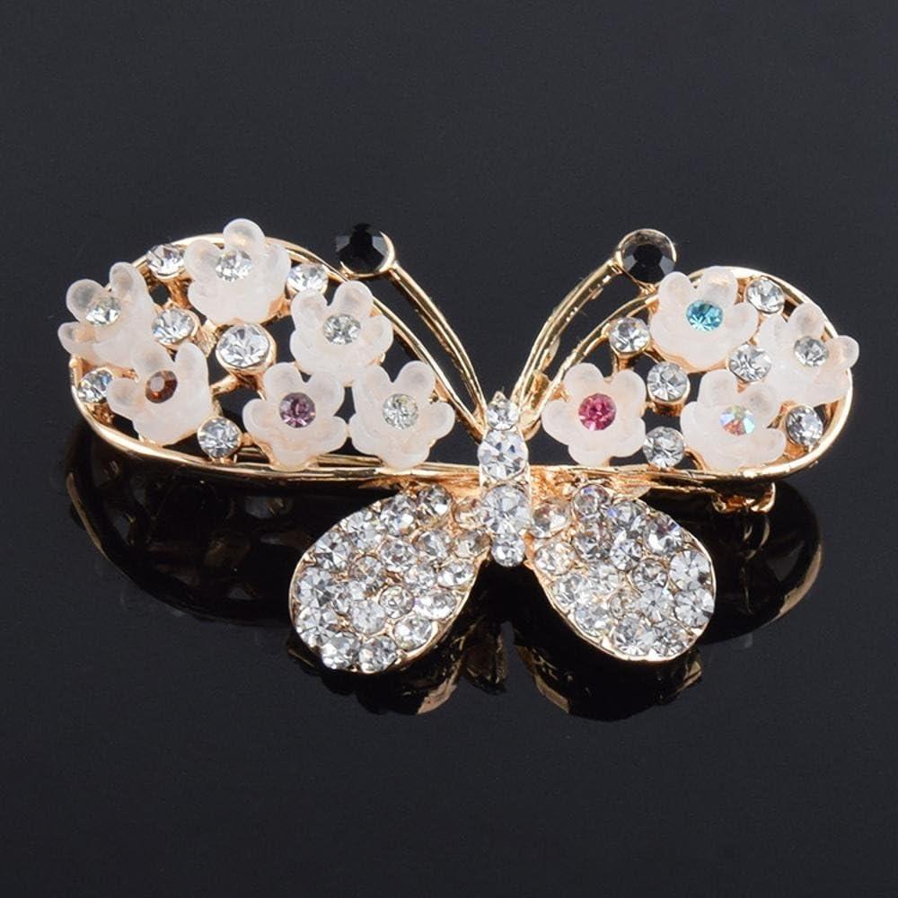 Crystal Butterfly Brooch Lady Inlaid Diamond Flower Brooch Clothing Christmas Clothing Accessories MAFYU Brooch