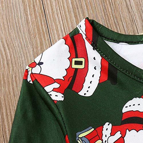 GoodLock Clearance!! Baby Boys Girls Christmas Dress Toddler Kids Long Sleeve Cartoon Print Dress Clothes (Green, 18 Months) by GoodLock (Image #6)