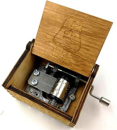 Yishelle Cajas Musicales Caja de música con Forma de manivela de Madera, Mecanismo para Notas Caja de música Antigua Tallada niños, Amigos (Color : C3): Amazon.es: Hogar