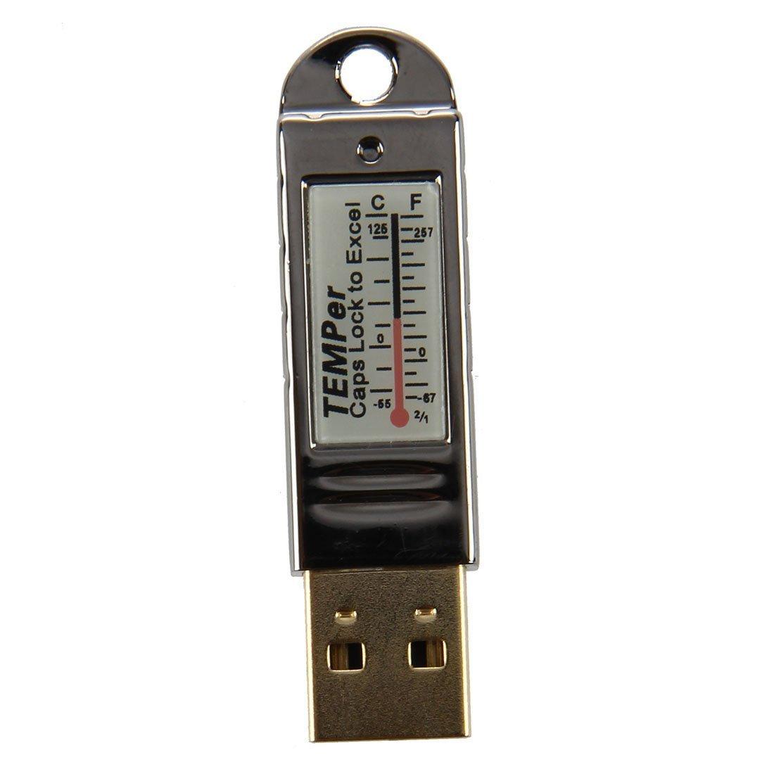 TOOGOO(R)Gold TEMPer PC USB portatil registrador de datos de sensor de temperatura 016303