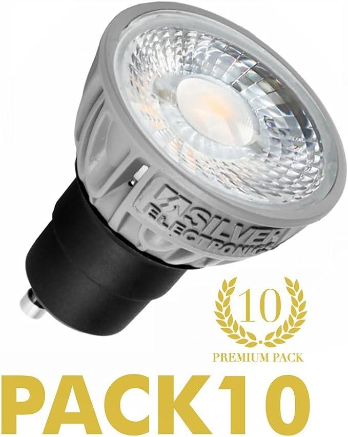 Pack 10 unidades bombilla LED PRO dicroica 5W GU10 5000K: Amazon.es: Iluminación