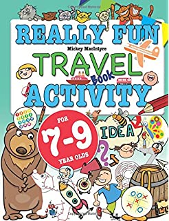really fun travel activity book for 7 9 year olds fun educational activity