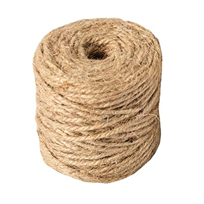 Natural Jute Twine Arts and Crafts Jute Rope Industrial Packing Materials Packing String for DIY Crafts, Festive Decoration and Gardening Applications 3ply, 164 Feet : Office Products