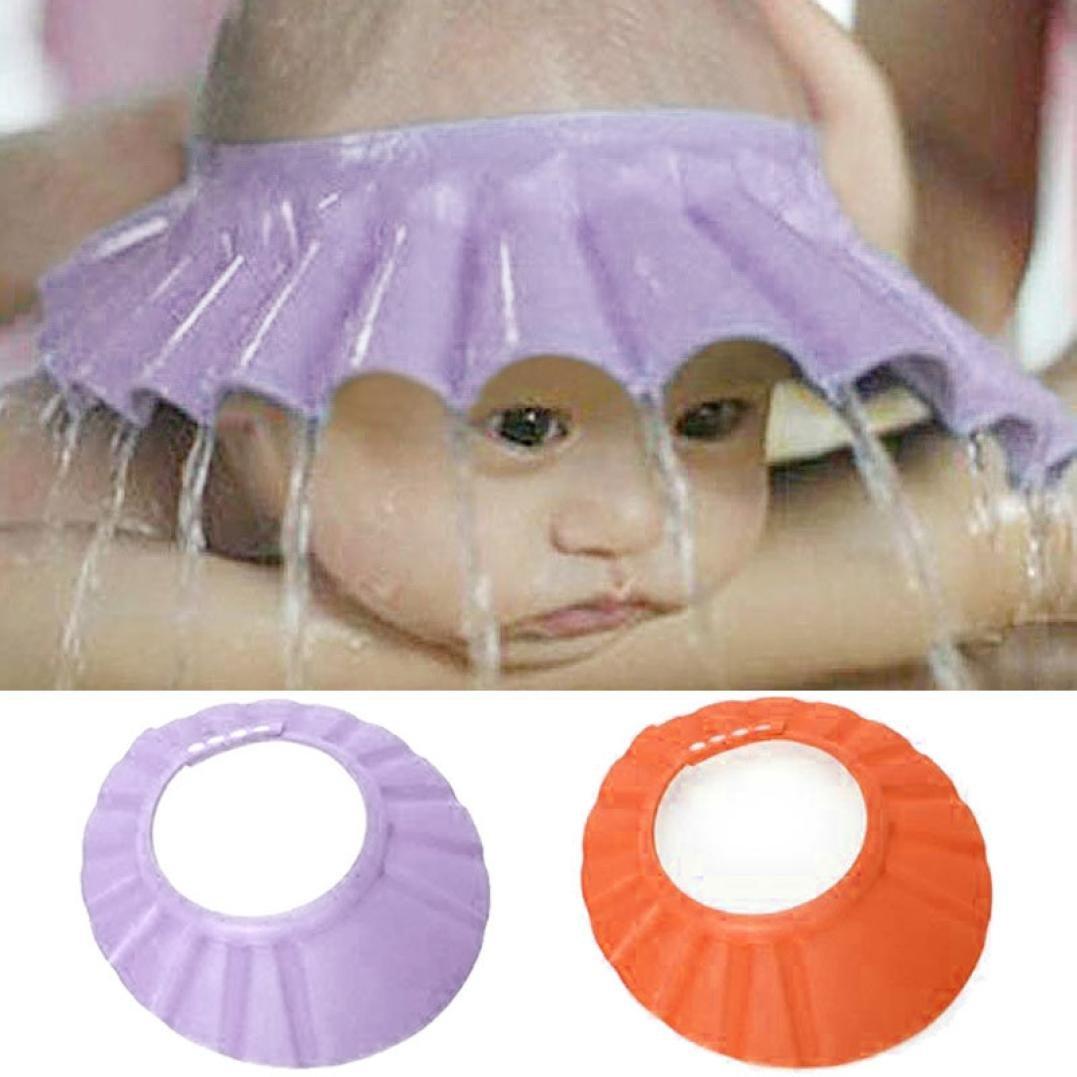 Orange Covermason B/éb/é Douche Casquette Bonnet de Bain Visi/ère Casquette pour Enfant Bonnet Protection Yeux