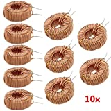 Utini 10pcs 330UH 3A Toroid Core Inductor Wire Wind Wound