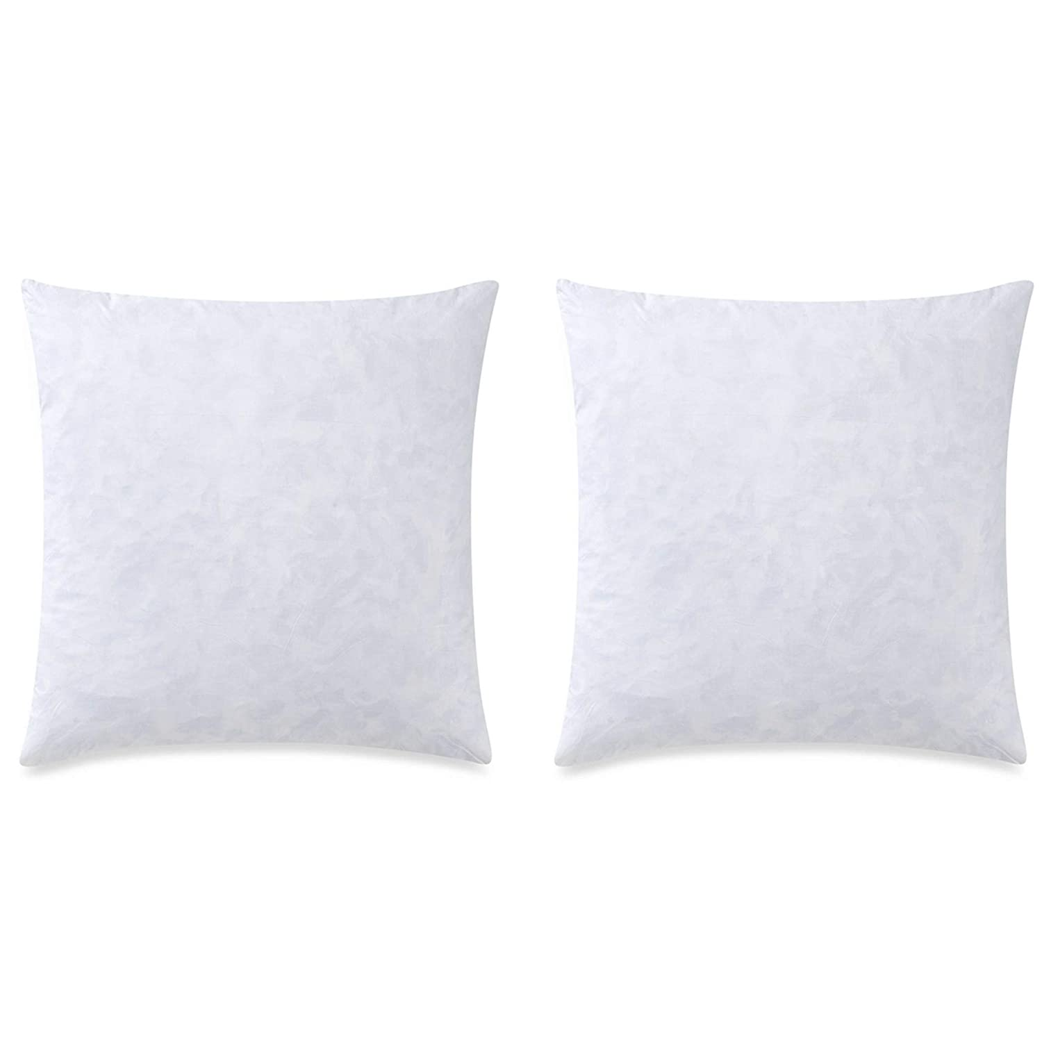 YesterdayHome Set of 2-18x18 Throw Pillow Inserts-Down Feather Pillow Inserts-White