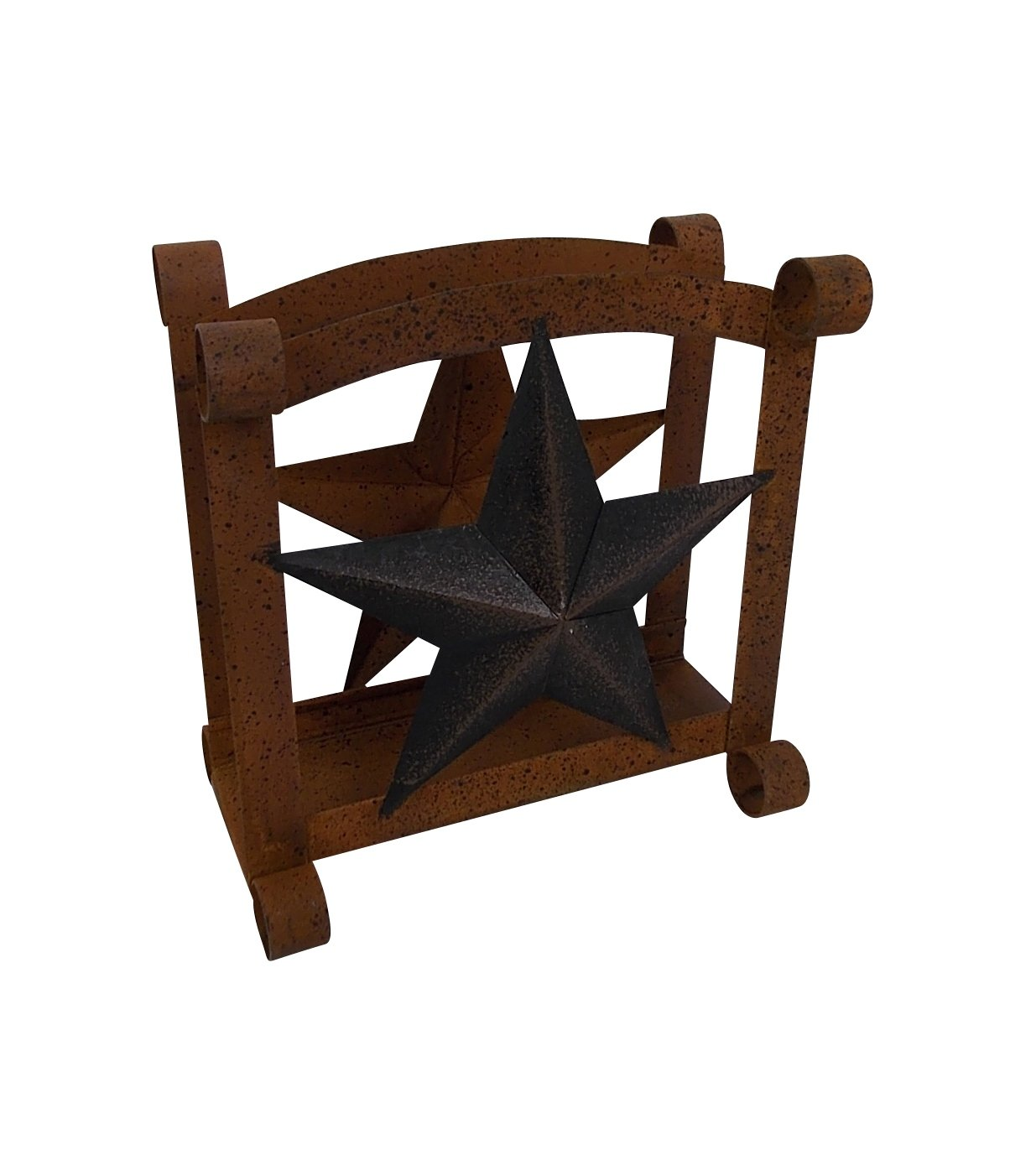 Craft Outlet Star Napkin Holder, 6 x 5 x 6.5-Inch, Rustic Craft Outlet Inc T1298