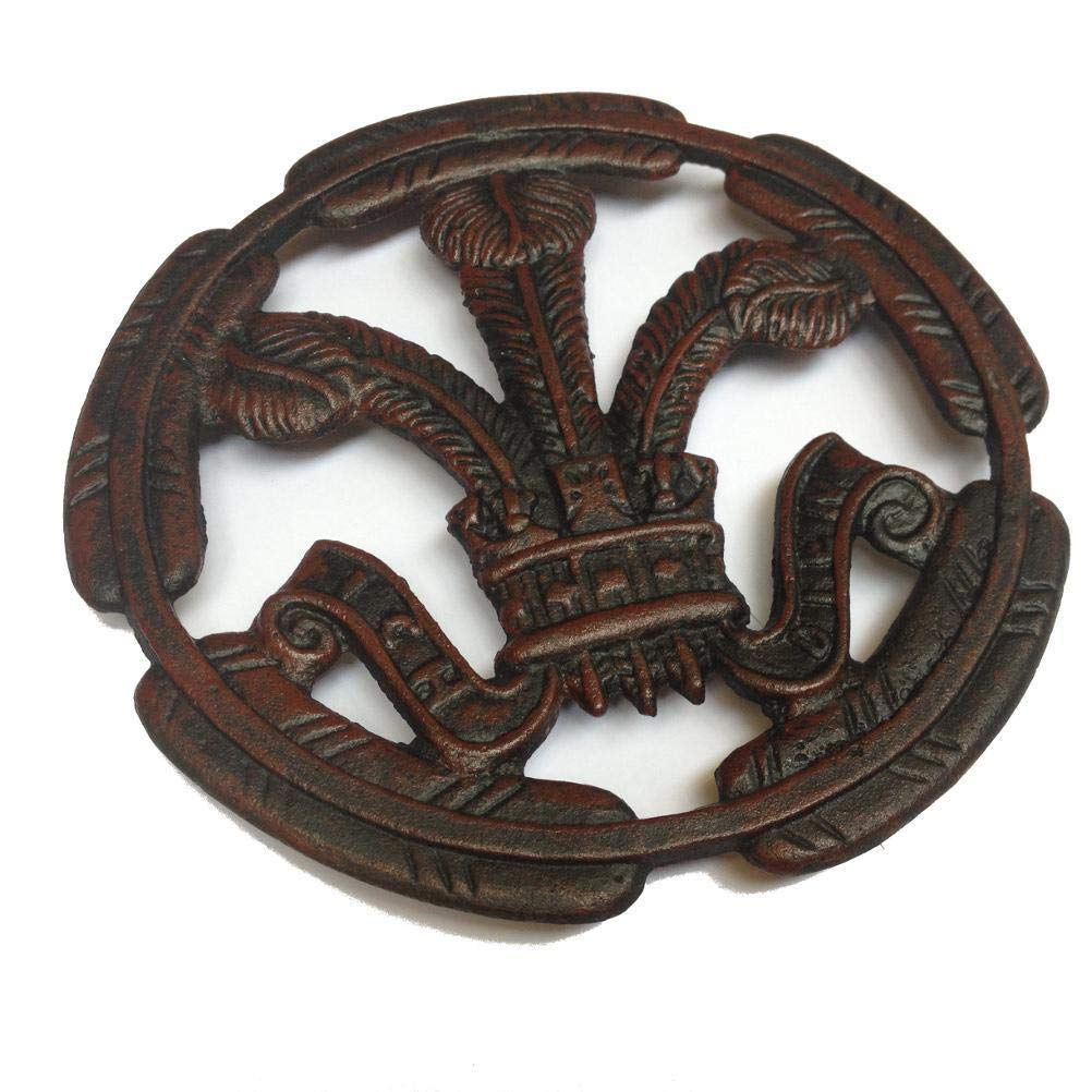 Welsh Feathers Cast Iron Round Trivet wh8