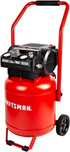 Craftsman Air Compressor, 10 Gallon Peak 1.8 Horsepower Oil-free Compressor, Max 150 PSI, Vertical Compressor Air Tools, Model: CMXECXA0331042