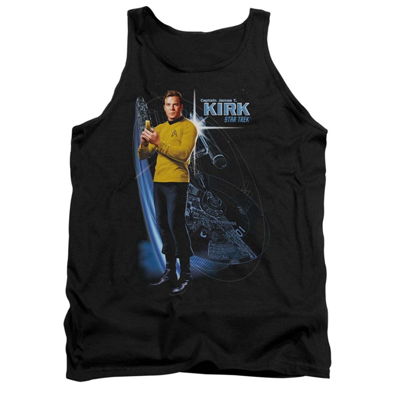 Star Trek TV Series Galactic Captain Kirk Adult Tank Top Shirt