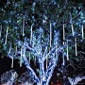 8W LED Light 50cm 400 Leds Meteor Shower Rain LED Lights 10 Tube Snowfall String Fairy Lighting for Christmas Tree Valentine Holiday Party Outdoor Garden Decoration