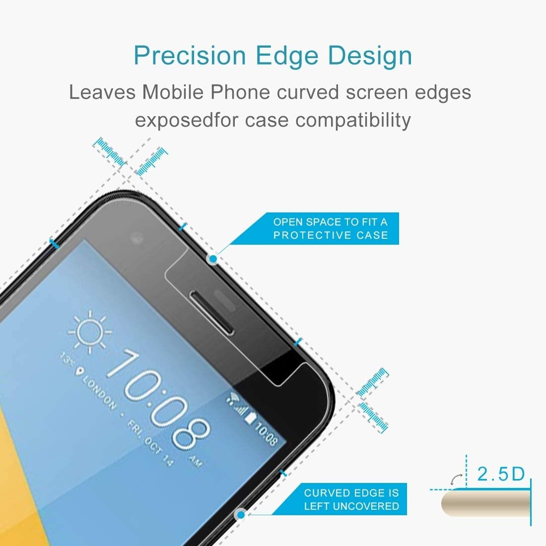 Ruanmaoshi Mobile Accessory 100 PCS for HTC U Ultra 0.26mm 9H Surface Hardness Explosion-Proof Tempered Glass Screen Film Phone Tempered Glass Film
