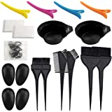 21 Packs Hair Dye Coloring Kit, Sonku Dye Brush Comb Mixing Bowl Ear Caps Shower Cap Apron Sectioning Clips and Hairbands for