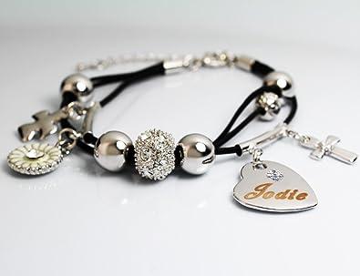 c8ab346039741 Name Bracelet JODIE - Personalised Ladies Genuine Leather Multi ...