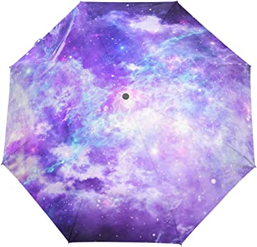 Big Umbrella Windproof Galaxy Deep Space Space Universe Stars Nebula Portable Compact Folding Umbrella Anti Uv Protection Windproof Outdoor Travel Women Umbrella Womens