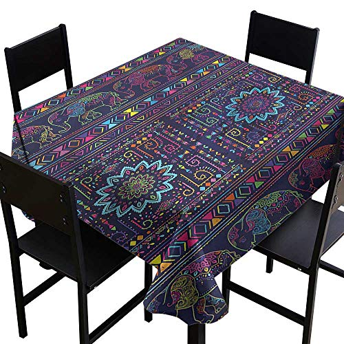 (Psychedelic Resistant Table Cover Middle Eastern Persia Party Decorations Table Cover Cloth 60 x 60)