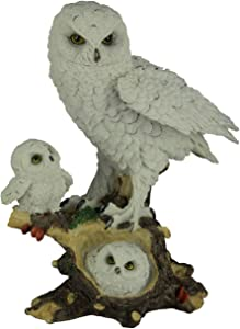 Everspring Import Company Snowy Owl Mom with Chicks Figurine New
