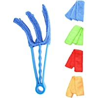 BESTONZON 5 Pcs Multifunctional Window Blind Cleaner Duster Brush with 4 Microfiber Sleeves for Air Conditioner Window Blinds