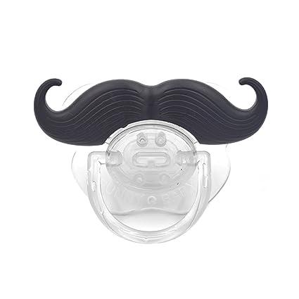 Aokayy divertido chupete para bebés con bigote juguete para ...