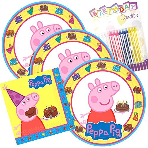 Lobyn Value Pack Peppa Pig Party Plates and