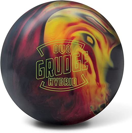 DV8 Grudge Hybrid Bowling Ball, Black Red Yellow, 15 lb