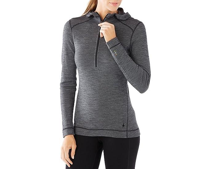 4608327fe241 SmartWool Womens Merino 250 Base Layer 1/2 Zip Hoodie at Amazon Women's  Clothing store: