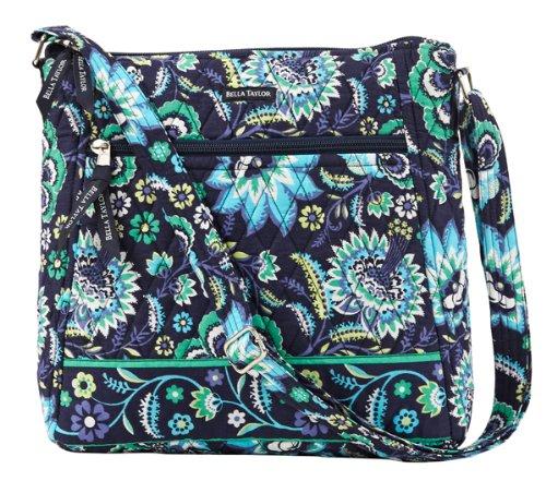 Bella Taylor Baja Blue Quilted Large Cross Body Messenger Bag Shoulder Bag, Bags Central