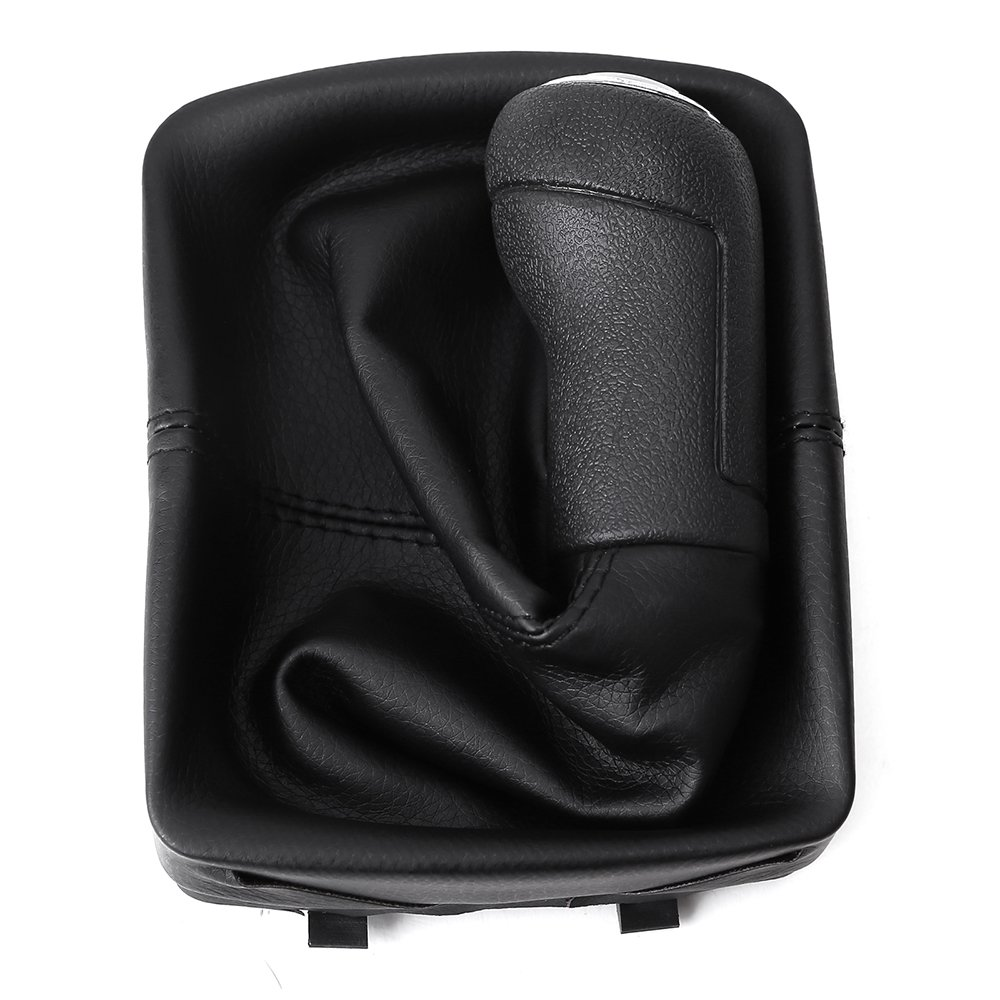 5-Speed Gear Shift Knob Stick Lever /& Leather Gaitor Gear Boot Cover