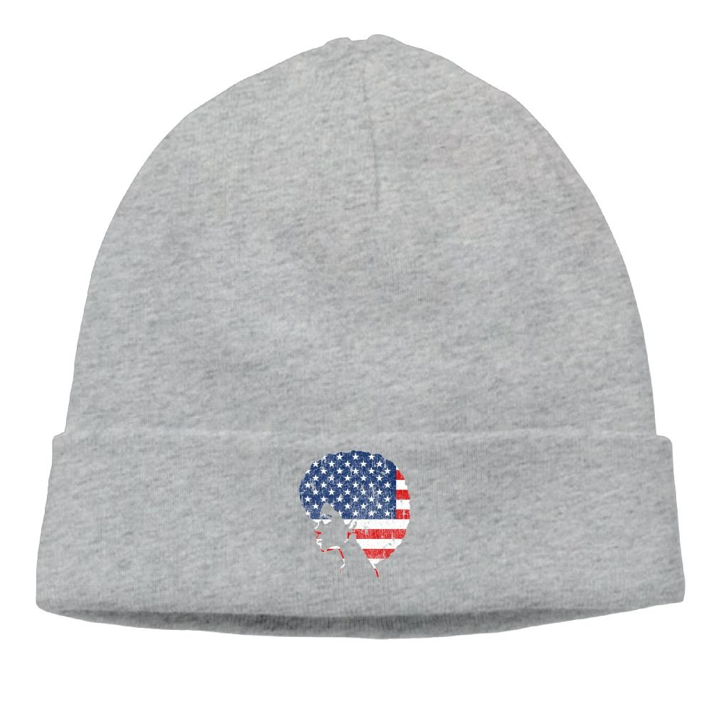 Beanie Hat Skull Knit Caps Adult Unisex American Flag African American Girl  at Amazon Women s Clothing store  03373a09dea