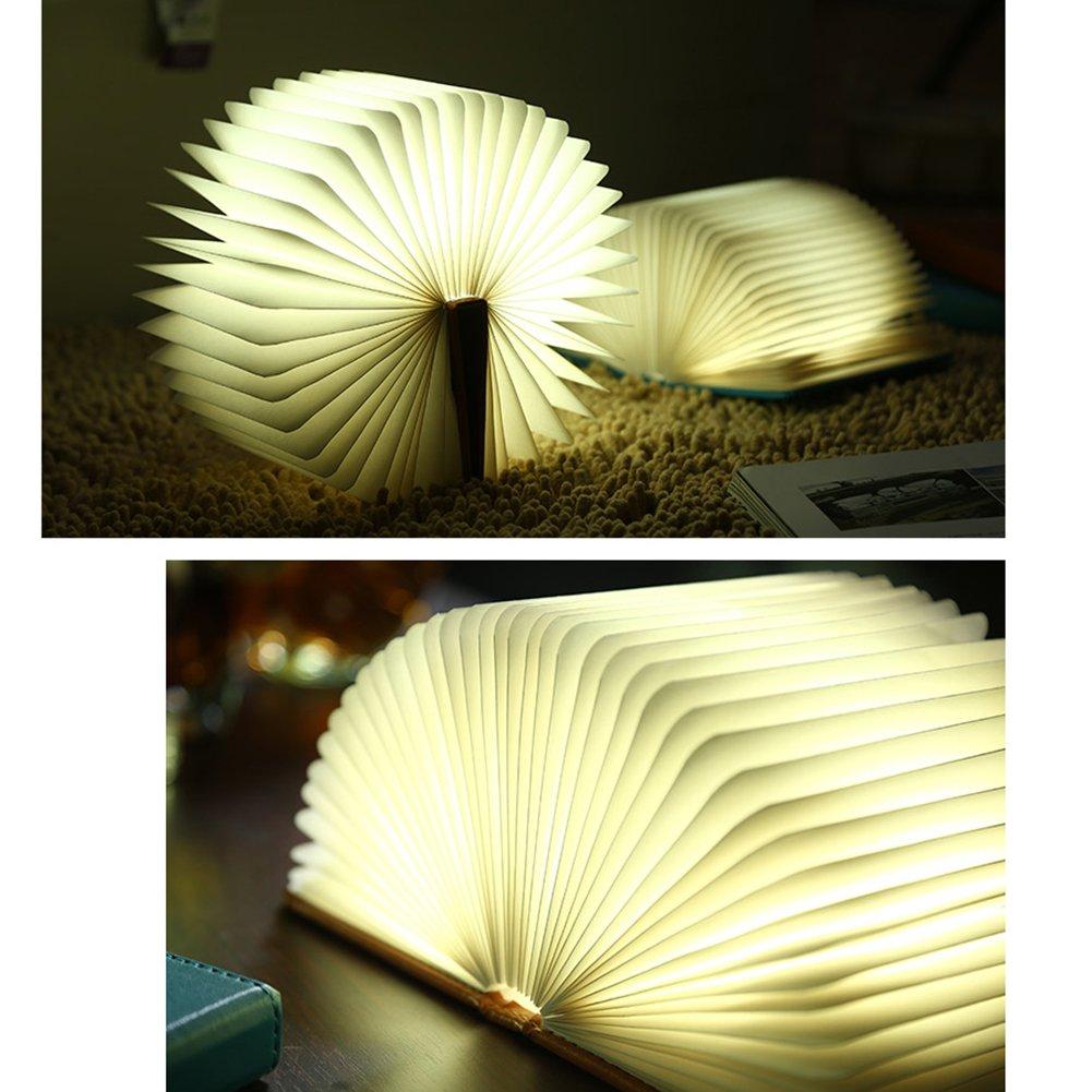 Lampe de chevet ou lampe salon moderne design et pas cher. LED Pliante en Forme de Livre avec 2500mAh Batterie Lithium Lampe de chevet Veilleuse Lumières Décoratives Lampes d'ambiance