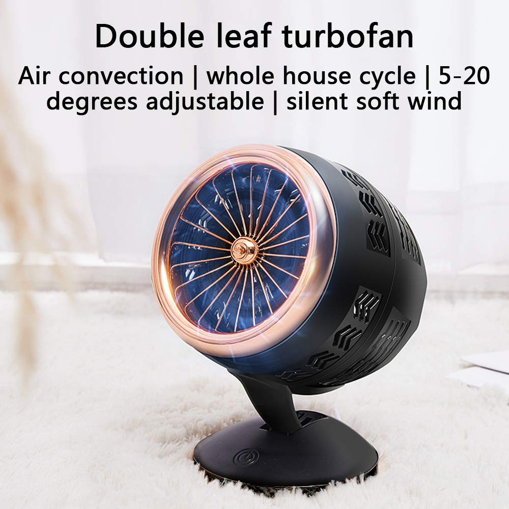 MEETGG Mini Portable USB Fan,3 Speeds Adjustable Mini Desktop Fan Portable Mini USB Rechargeable Cooling Fan with for Office Home and Travel,Blue