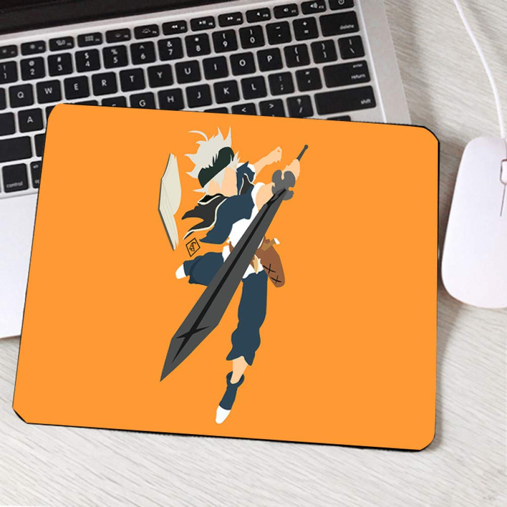IXNSZ Mouse Pad Hot Popular Jump Comic Black Clover Anime Manga Mini Pc Table Mousepad for Animation Lovers Fans Rubber Desk Mouse Pad by IXNSZ