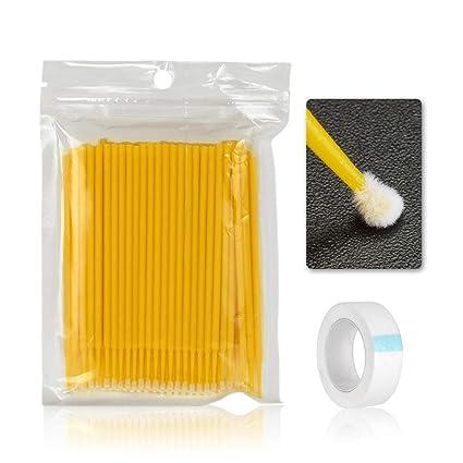 bébé mode attrayante Promotion de ventes Pettine per ciglia, 100pcs monouso micro - Spazzola per ...