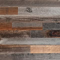 Beautiful reclaimed weathered barn wood panels can now be easily assembled in your home in a matter of minutes. The wall decals are easy to use and you can stick the wood straight onto your existing wall. This rustic wood wall accent will tra...