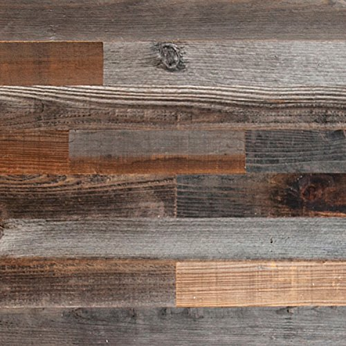 Reclaimed Barn Wood Wall Panels - DIY Peel and Stick Easy Installation, 10 Sq Ft